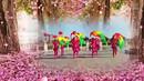 骊山花影广场舞《欢聚一堂》长绸扇