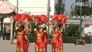 曲沟广场扇子舞《欢聚一堂》广场舞健身舞
