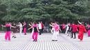 老年大学二班五组学员表演广场舞《北京的金山上》