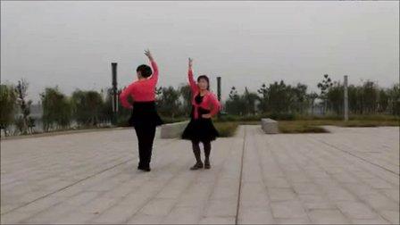 冬梅广场舞《爱情恰恰》双人对跳