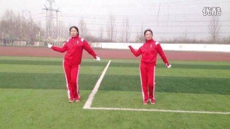 平顶山姐妹花广场舞《快乐舞步》健身操、第十二节肩髋运动