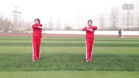 平顶山姐妹花广场舞《快乐舞步》健身操、第九节手指运动