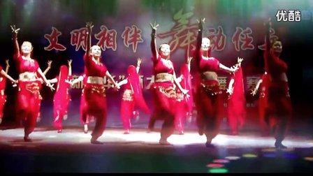 阿采原创广场舞 任丘雁翎丽影舞蹈队《印巴切克串烧》变队形