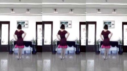 韩黎纱广场舞《谁是我的郎》背面演示及口令分解