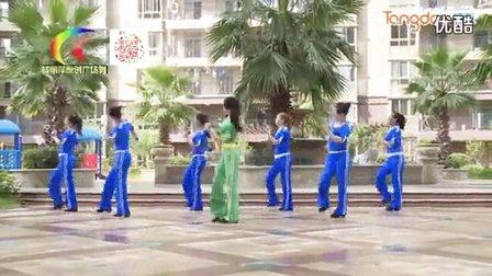 杨丽萍广场舞、因为爱着你、步子舞教学