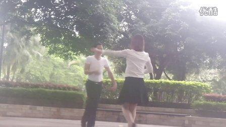 天缘广场双人舞《欢聚一堂》恰恰