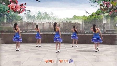 兰州莲花广场舞《一个人醉》正背面