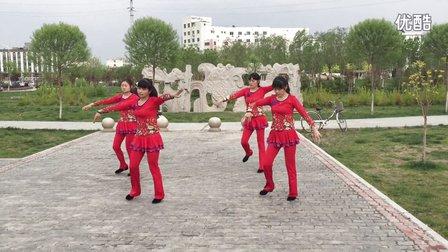 安义银川广场舞《山里红》