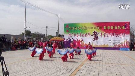 南郊广场单扇子舞 北京的金山上 广场舞联谊活动