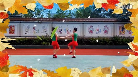 达州红缨广场舞《烟花三月下扬州》双人舞、三步踩