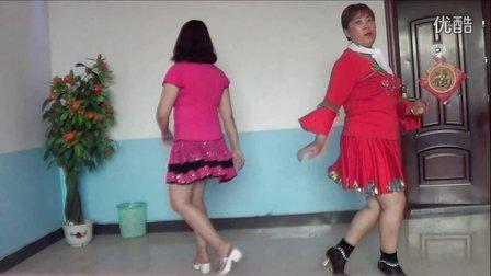 东湖君君广场舞 粉红色的回忆 双人对跳