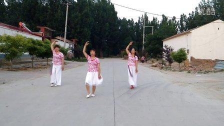 大围河明月广场舞《蓝月山谷》学跳廖弟舞