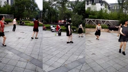 安吉姐妹广场舞、北京的金山上