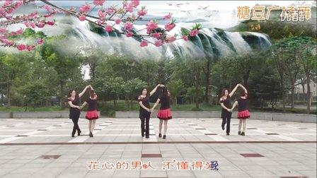 舞韵新禾广场舞《花心传说》恰恰对跳双人舞