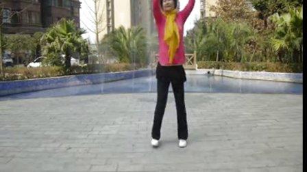 简阳加州花园广场舞《我们的钓鱼岛》李李六十四岁春节