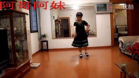 南江邮政局退休职工蒋洪清广场舞《阿哥阿妹》