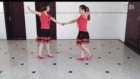 双人对跳广场舞 想着你亲爱的 伦巴舞演示