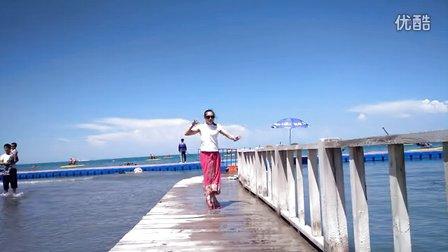 雪晴广场舞《歌在飞》青海湖拍摄