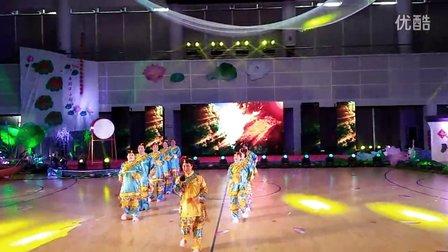 济宁微山荷花艺术节广场舞大赛舞蹈 烟花三月下扬州