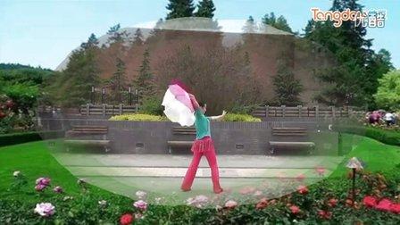 天水滨河广场舞《我的祖国》扇子舞 背面演示 演唱九月奇迹