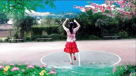 玖月广场舞 北京的金山上 背面