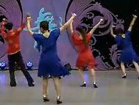 动动广场舞 我爱的人在新疆 背面