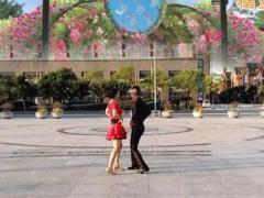 淓淓广场舞 双人舞 深深爱 附教学对跳恰恰