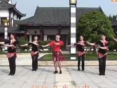 动动广场舞《又见山里红》附背面、宁乡姐妹健身队
