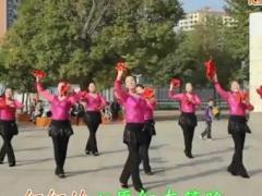 高安子君广场舞《山里红了》附背面分解