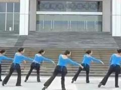 紫蝶广场舞《为你等待》背面 踏歌广场舞