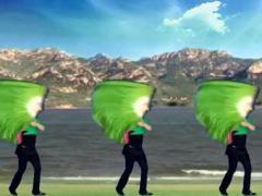 阿中中广场舞《我的祖国》 扇子舞
