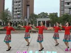 高安子君广场舞《雪山姑娘》背面演示与动作分解