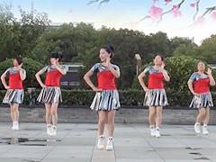 茉莉广场舞 《杏花落时茶幽香》 伦巴步子舞 含背面分解教学