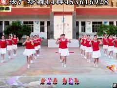 惠汝广场舞 快乐舞动 20人变队形串烧