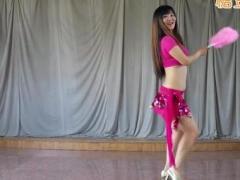 舞媚娘初级肚皮舞 扇子舞 口令分解 正背面 有基础的舞友可以看懂