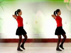 焦佐白雪广场舞《山里红》单人水兵舞 含背面动作分解教学