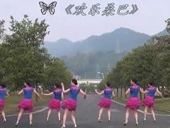 紫蝶踏歌广场舞《欢乐桑巴 》