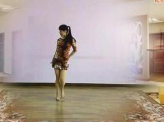 乔茜广场舞 快乐嘭恰恰 背面演示