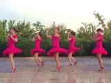 阿中中广场舞《河岸好姑娘》合作演教版