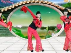 魏县梦之兰广场舞 秀恩爱 原创秧歌手绢舞正背面演示附教学