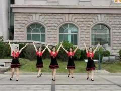阿中中广场舞 站在草原望北京 合作版
