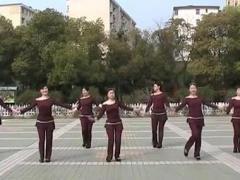 高安子君广场舞 《红太阳亮》 团队演示