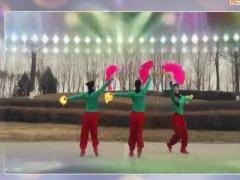 西安悠然广场舞 欢聚一堂 扇子舞正背面演示