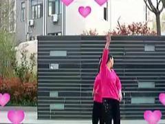 青儿广场舞《粉红色的回忆》两人对跳