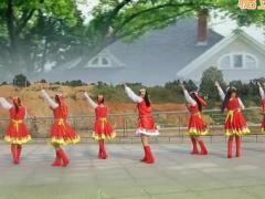 太湖彬彬广场舞 北京的金山上 正反面演示及教学