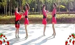 可爱玫瑰花广场舞 对跳恰恰舞