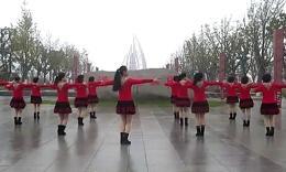 盛泽雨夜广场舞《冬天里的一把火》含口令及背面演示
