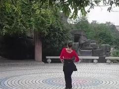 永州格格广场舞《康定情歌》背面