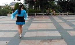 可爱玫瑰花广场舞《最炫民族风》背面 舞蹈教学