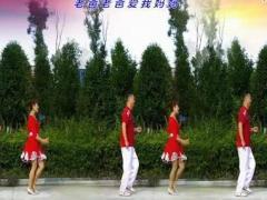 夫妻广场舞《老爸老爸你好吗》双人对跳恰恰